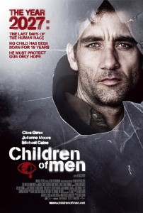 Fig. 1: Plakaten til Alfonso Cuaróns Children Of Men (2006). En post-apokalyptisk science fiction-film – Oscarnomineret, tankevækkende og svært underholdende.