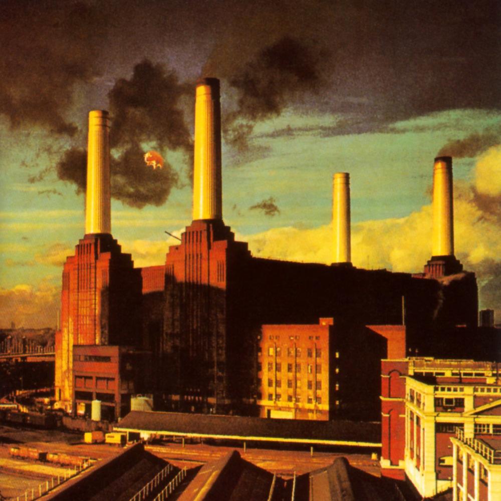 Fig. 2: Pink Floyds album Animals var selv en genfortolkning af George Orwells berømte politiske allegori Animal Farm fra 1945.