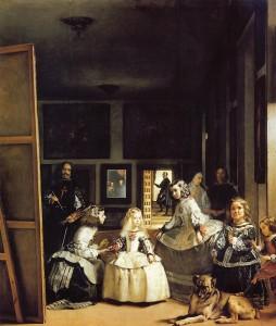"""Fig. 6: Hvor de andre værker og kunstnere, der nævnes i """"Court of the Crimson King""""-scenen, taler direkte til filmens tematik og visuelle stil, tilbyder Velázquez' Las Meninas en anden form for kode til at dechifrere Theos møde med Nigel."""