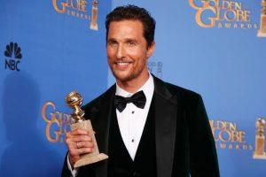 Fig. 11 Matthew McConaugheys favoritstatus  op til Oscaruddelingen cementeres af, at han allerede har modtaget en Golden Globe for rollen i Dallas Buyers Club.