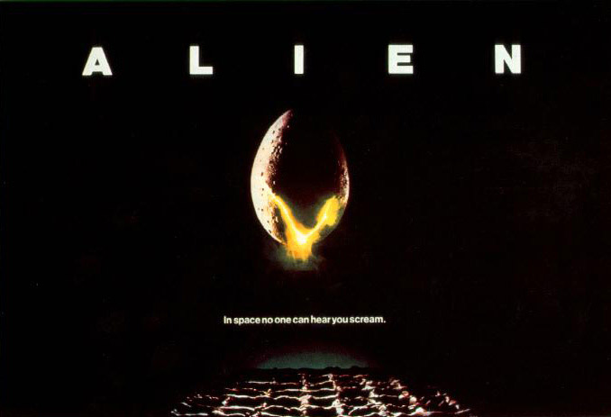 Fig. 1: The tagline for Alien (1979) reads like a headline for Alfonso Cuarón's modern-day sound spectacle Gravity (2013).