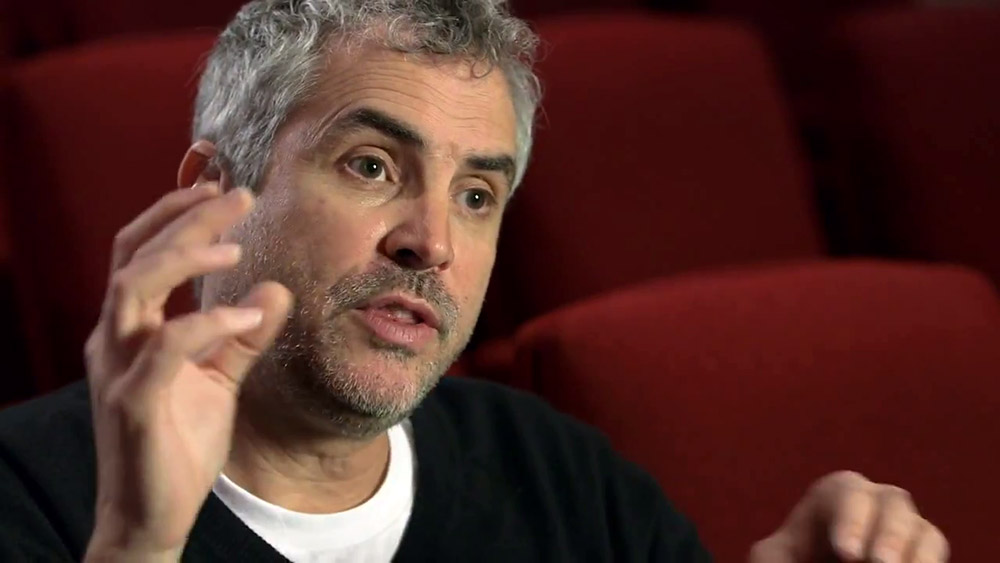 Fig. 9: Alfonso Cuarón talks about his richly layered multi-channel sound design in a Gravity promo, produced by Dolby.