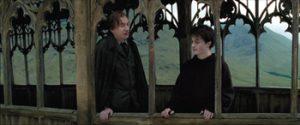 Fig. 12: Der klippes til en halvnær beskæring af Lupin og Harry.