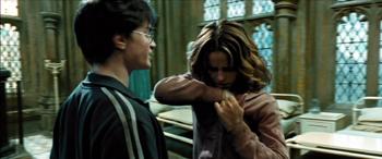 Fig. 18: Hermione gemmer tidsvenderen væk.