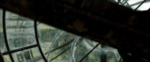Fig. 20: Kameraet bevæger sig gennem urglasset for enden af gangen.