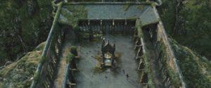 Fig. 21: Vi ser skolegården fra oven.