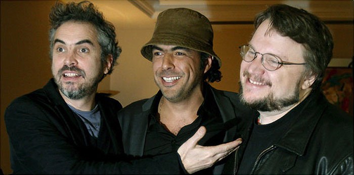 The three amigos of cinema.