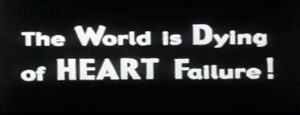 Fig. 14-15: I Maddins mesterlige kortfilm The Heart of the World (2000) skal den teutoniske skønmø Anna forsøge at redde jorden, hvis pumpende hjerte hun studerer gennem et langt rør!