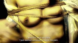 Fig. 6: Kameraet synes nærmest at strejfe huden i Kinbaku – The Art of Bondage. Vi fornemmer berøringen og mærker en empatisk relation mellem huden på skærmen og vor egen hud.