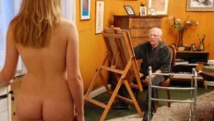 Fig. 9: Udover atletikken har denne atlet en særlig interesse i at male nøgne kvinder.