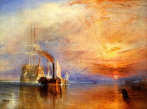 Fig. 2: J.M.W. Turner, The Fighting Temeraire tugged to her Last Berth to be broken up, 1839.