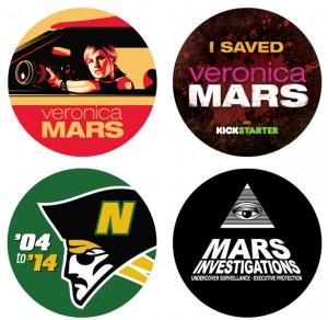 Fig. 6: Folkene bag Veronica Mars – The Movies Kickstarter-projekt producerede stickers til fans, der støttede projektet med mere end $10.