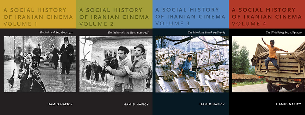 Fig. 1 - Iransk films historie i fire bind. Hamid Naficy: A Social History of Iranian Cinema, Durham: Duke University Press, 2011-12.