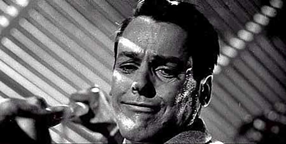 Fig. 3: Kevin McCarthy som doktor Bennell i 1956-versionen.
