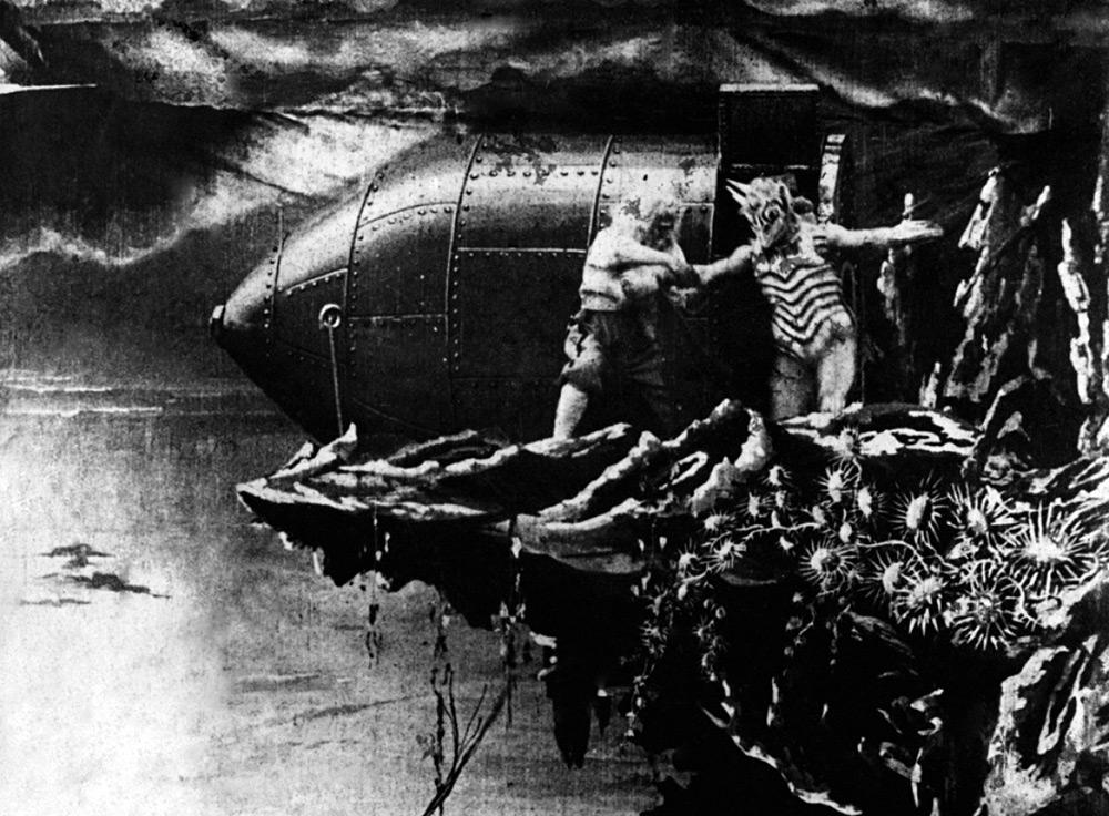 Fig. 5: De fascinerende og bjergtagende special effects i George Méliès's Le Voyage dans la Lune (1902) er et tidligt eksempel på Cinema of Attraction.