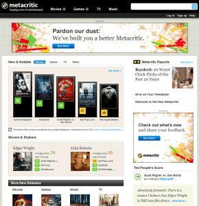 Fig. 1: Metacritic.com. Er vi alle blevet kritikere?