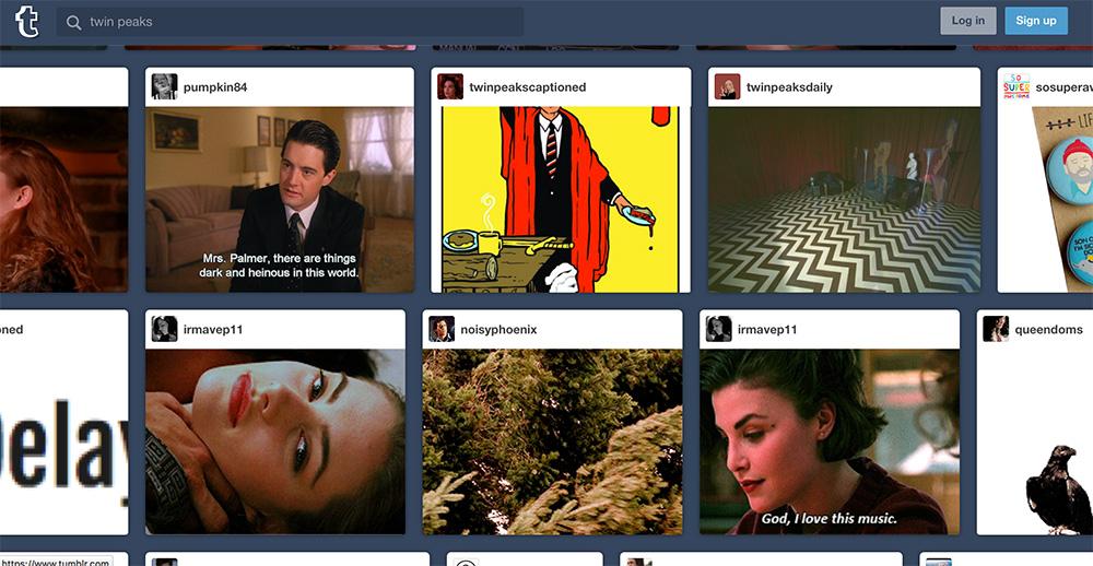 Fig. 4: Twin Peaks-fandom på Tumblr.