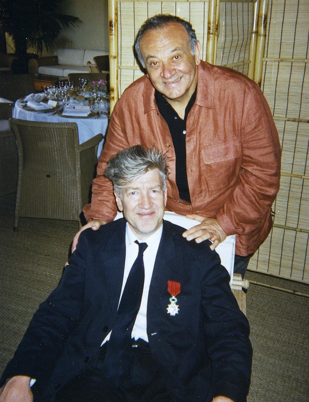 Fig. 6: Lynch med komponisten Badalamenti, der er interviewet til bogen. (Foto stillet til rådighed af Angelo Badalamenti).