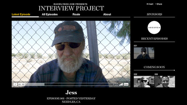 Fig. 13: The Interview Project (2009-2010) – en såkaldt onlinedokmentar, som krydser grænsen imellem forskellige medier aktiverer brugeren på en for genren ny måde.