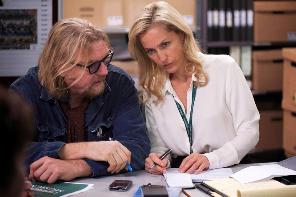 Fig. 9: Seriens hovedforfatter Allan Cubitt, her sammen med Gillian Anderson.