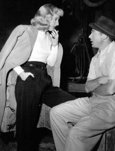 Fig.4: Billy Wilder sammen med Barbara Stanwyck under optagelserne til Double Indemnity.