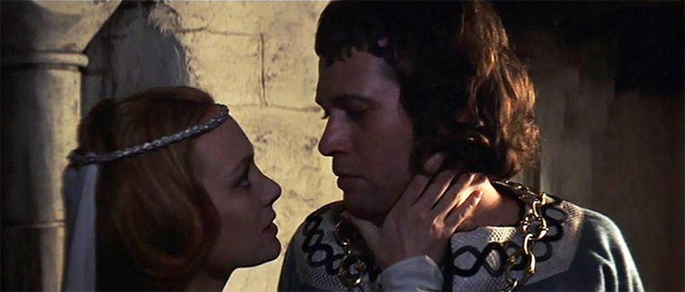 """Figur 3: Francesca Annis og Jon Finch i Polanskis Macbeth: """"Er du en mand eller en mus, Macbeth?"""""""