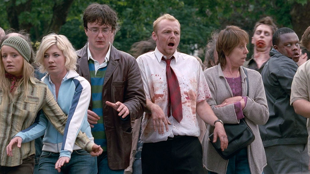 Fig. 2: Shaun of the Dead (2004) is a combination of zombie film and romantic comedy.