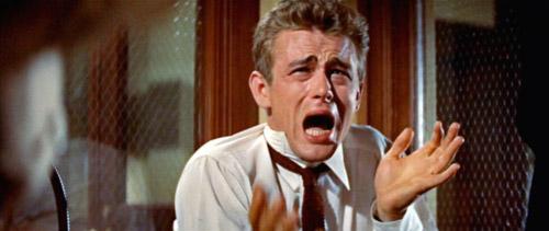 """Fig. 5: Forbilledet: """"You´re tearing me apart!"""" med James Dean."""