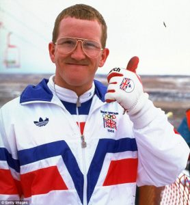 "Fig. 8. Den ukuelige optimist Eddie ""The Eagle""."