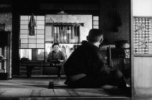 Fig. 12: Here is a typical low-angle shot from Yasujirō Ozu's Tokyo Monogatori (1953), a film that was a major point of inspiration for Arthur Albert when designing the visual style for Better Call Saul.
