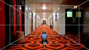 Fig. 17: A vanishing point perspective shot from Stanley Kubrick's The Shining (1980).