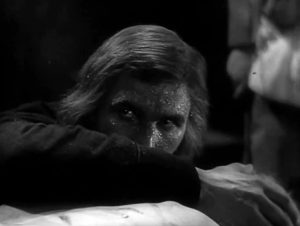 Fig. 3: Jánošík (dir. Martin Frič, 1935). Frič's debt to the experimental wing of Czech film is clearly visible in these two shots, where Jánošík (fig. 3) reacts to the death of his father...